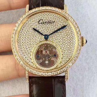 精仿卡地亚珠宝腕表陀飞轮价格_多少钱_报价-实名表业高仿手表商城