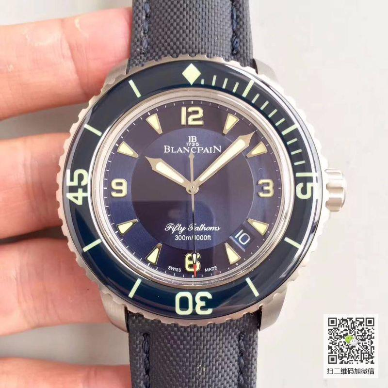 ZF厂宝珀五十噚5015-12B40-O52A新款复刻一比一价格_多少钱_报价-实名表业高仿手表商城