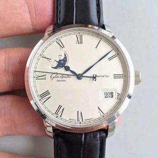 GF厂格拉苏蒂100-04-32-12-04,精仿格拉苏蒂议员系列大日历月相腕表100-04-32-12-04腕表价格_多少钱_报价-实名表业高仿手表商城