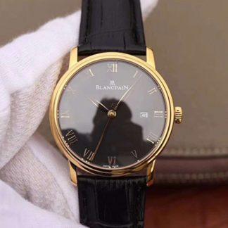 ZF厂精仿宝珀手表价格 高仿宝珀经典系列6651-1127-55B 黑盘男士计时机械腕表价格_多少钱_报价-实名表业高仿手表商城