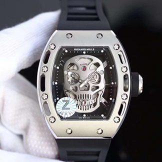 Z厂一比一精仿理查德.米勒RM052镂空骷髅头腕表关于手表价格_多少钱_报价-实名表业高仿手表商城
