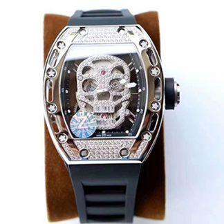 Z厂一比一精仿理查德.米勒RM052满钻镂空骷髅头腕表关于手表价格_多少钱_报价-实名表业高仿手表商城