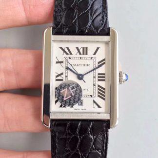 【卡地亚W5200027】ZF厂一比一高仿瑞士卡地亚Cartier 坦克TANK男表W5200027 全自动机械男士手表价格_多少钱_报价-实名表业高仿手表商