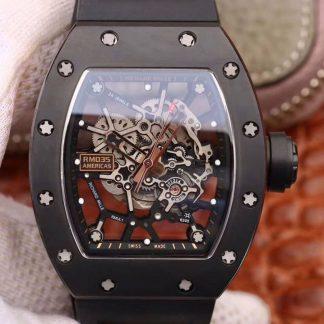 KV厂 RM035碳纤维系列最强复刻版本 男士自动机械表关于手表价格_多少钱_报价-实名表业高仿手表商城