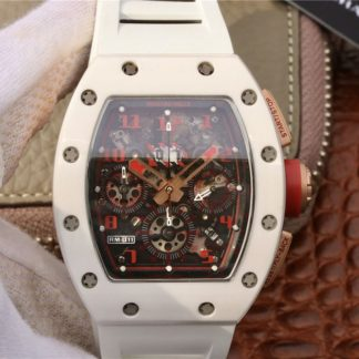 KV厂理查德米勒 仿 一比一高仿理查德米勒RM011款白色 男士腕表价格_多少钱_报价-实名表业高仿手表商城