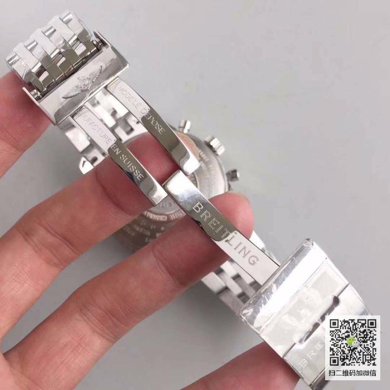 JF厂百年灵Breitling 航空计时系列精钢表壳-蓝色表盘-Navitimer航空精钢表链腕表 男士多功能自动机械手表价格_多少钱_报价-实名表业高仿手表商城