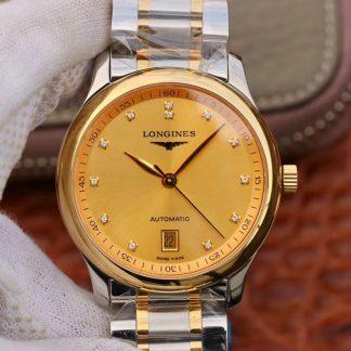 浪琴名匠 KY L2.628.5.37.7 间金金盘镶钻 复刻表价格_多少钱_报价-实名表业高仿手表商城