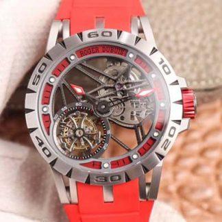 JB厂罗杰杜彼RDDBEX0545,一比一高仿罗杰杜彼王者系列飞行陀飞轮RDDBEX0545红带男表价格_多少钱_报价-实名表业高仿手表商城