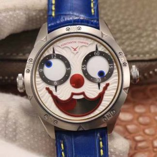 精仿俄罗斯小丑V3S版真功能快调月相与原版同步白色表盘 TW厂复刻俄罗斯小丑男表价格_多少钱_报价-实名表业高仿手表商城