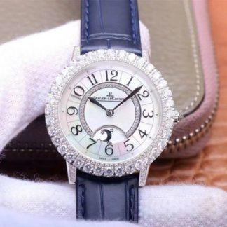 高仿积家Q3523570,ZF厂精仿积家约会月相珠宝腕表系列Q3523570银钻女表价格_多少钱_报价-实名表业高仿手表商城