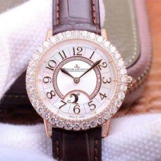 高仿积家Q3523570,ZF厂精仿积家约会月相珠宝腕表系列Q3523570玫瑰金钻女表价格_多少钱_报价-实名表业高仿手表商城