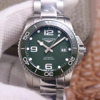 ZF厂浪琴L3.781.4.06.6,高仿浪琴Hydroconquest康卡斯潜水系列L3.781.4.06.6绿盘男表价格_多少钱_报价-实名表业高仿手表商城