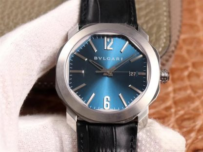 BV厂宝格丽102429,精仿宝格丽Octo系列102429浅蓝色表盘男表价格_多少钱_报价-实名表业高仿手表商城