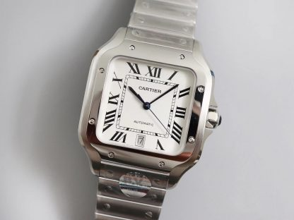 BV厂卡地亚WSSA0009,精仿卡地亚山度士系列WSSA0009白盘男表价格_多少钱_报价-实名表业高仿手表商城