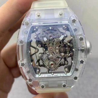 EUR厂理查德·米勒RM027,复刻理查德·米勒RM027白色透明表盘钛金属男表价格_多少钱_报价-实名表业高仿手表商城