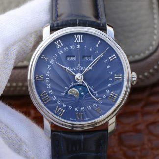 OM厂宝珀6654-1529-55B,复刻宝珀经典系列6654-1529-55B月相显示蓝盘男表价格_多少钱_报价-实名表业高仿手表商城