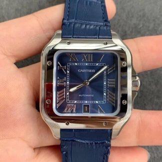 V6厂卡地亚WSSA0030,复刻卡地亚山度士WSSA0030蓝盘男表价格_多少钱_报价-实名表业高仿手表商城