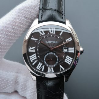 V6厂卡地亚WSNM0009,复刻卡地亚Drive De Cartier系列WSNM0009黑盘男表价格_多少钱_报价-实名表业高仿手表商城