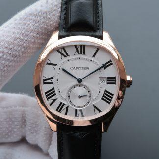 V6厂卡地亚WGNM0003,复刻卡地亚Drive De Cartier系列WGNM0003玫瑰金银盘男表价格_多少钱_报价-实名表业高仿手表商城