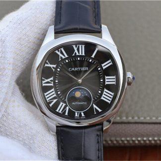 卡地亚WGNM0009,复刻卡地亚Drive De Cartier系列月相WGNM0009黑盘男表价格_多少钱_报价-实名表业高仿手表商城